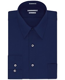Van Heusen Men's Fitted Poplin Dress Shirt