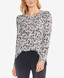 Vince Camuto Rose-Print Top