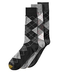 Gold Toe Men's 3-Pk. Extended-Size Carlyle Argyle Socks