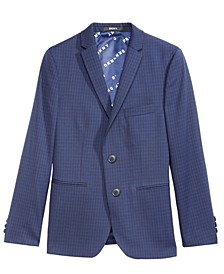 Big Boys Mini-Check Print Jacket