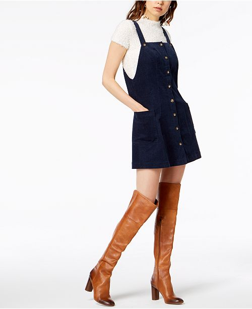 53a3f118d51 Socialite Corduroy Overalls Dress   Reviews - Dresses - Juniors - Macy s