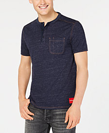 Calvin Klein Jeans Men's Denim-Knit Baseball T-Shirt