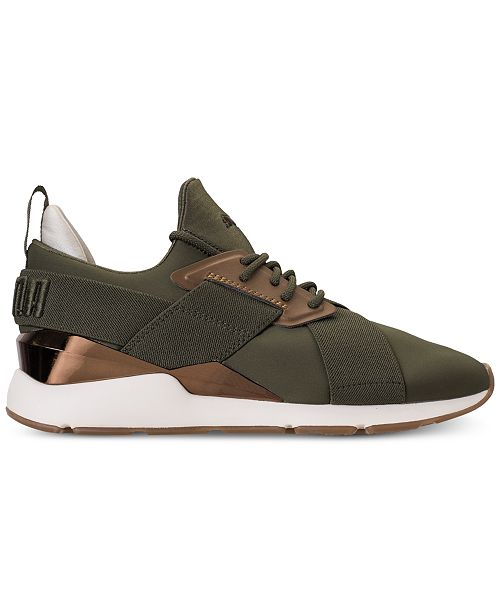 549952f2621c Puma Women s Muse Metallic Casual Sneakers from Finish Line ...
