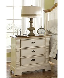 Graniteville Country Three-Drawer Nightstand