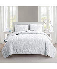 VCNY Home Shore 3-Pc. King Embossed Quilt Set