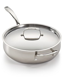 Stainless Steel Sand-Blasted 5-Qt. Sauté Pan, Created for Macy's