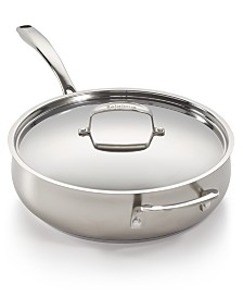 Belgique Stainless Steel Sand-Blasted 5-Qt. Sauté Pan, Created for Macy's
