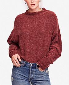 Free People Break Away Drop-Shoulder Mock-Neck Sweater