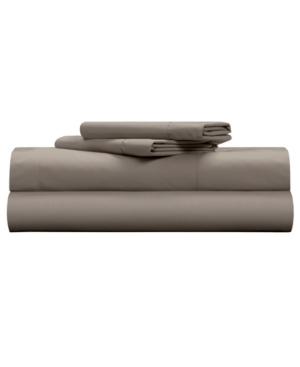 Pillow Guy Classic Cool & Crisp 100% Cotton Percale 4-Piece Sheet Set- Cal King Bedding