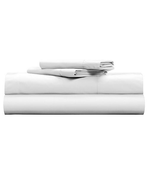 Pillow Guy Clic Cool Crisp 100 Cotton Percale 4 Piece Sheet Set