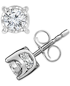 Trumiracle Diamond Stud Earrings 1 2 Ct T W
