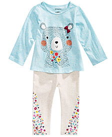 First Impressions Toddler Girls Graphic-Print T-Shirt & Floral Leggings Separates, Created for Macy's
