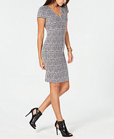 MICHAEL Michael Kors Jacquard Plaid Dress, In Regular & Petites