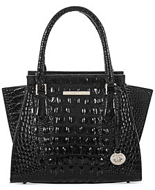 Brahmin Priscilla Melbourne Embossed Leather Mini Satchel