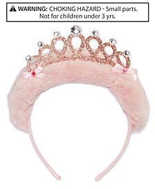 On the Verge Little & Big Girls Faux-Fur Crown Headband