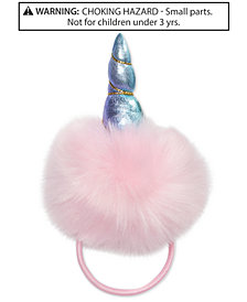 On the Verge Little & Big Girls Faux-Fur Unicorn Hair Tie