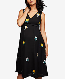 A Pea In The Pod Maternity Embroidered A-line Dress