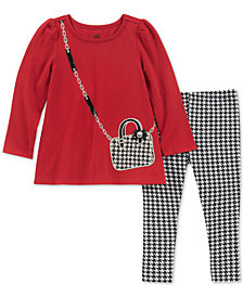 Kids Headquarters Toddler Girls 2-Pc. Purse Tunic & Printed Leggings Set