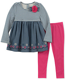 Kids Headquarters Toddler Girls 2-Pc. Embroidered Tunic & Leggings Set