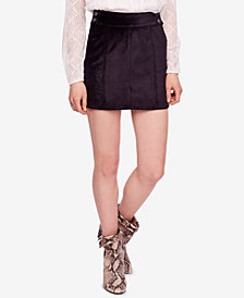 Free People Retro Velvet Mini Skirt