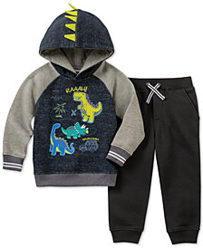 Kids Headquarters Little Boys 2-Pc. Dino Fleece Hoodie & Jogger Pants Set