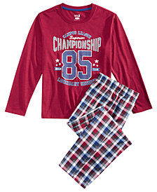 Max & Olivia Little & Big Boys 2-Pc. Championship Pajama Set