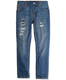 Levi's® Big Boys 501 Skinny Distressed Jeans
