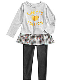 First Impressions Toddler Girls Peplum Tunic & Denim Jeggings, Created for Macy's