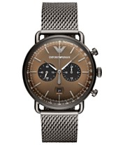 77faf0d82b37 Emporio Armani Men s Chronograph Gunmetal Stainless Steel Mesh Bracelet  Watch 43mm