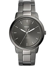 Fossil Men's Minimalist Smoke Stainless Steel Bracelet Watch 44mm
