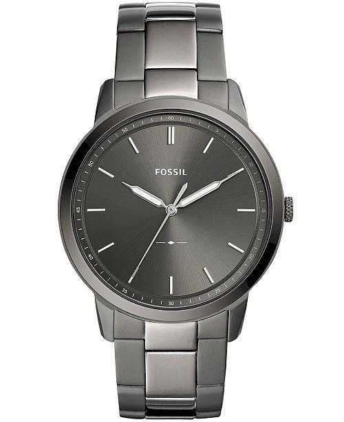 7000e4c2a Fossil Men's Minimalist Smoke Stainless Steel Bracelet Watch 44mm; Fossil  Men's Minimalist Smoke Stainless Steel Bracelet Watch ...