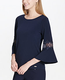 Calvin Klein Lace-Trim Top