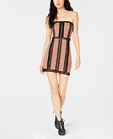 Free People City Lights Crochet-Detail Tube Dress