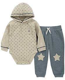 Calvin Klein Baby Boy's 2-Pc. Star Long Sleeve & Pant Set