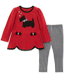 Kids Headquarters Baby Girls 2-Pc. Scottie Dog Tunic & Checked Leggings Set