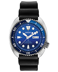 Seiko Men's Automatic Prospex Special Edition Diver Black Silicone Strap Watch 45mm