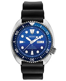 SPECIAL EDITION Seiko Men's Automatic Prospex Special Edition Diver Black Silicone Strap Watch 45mm