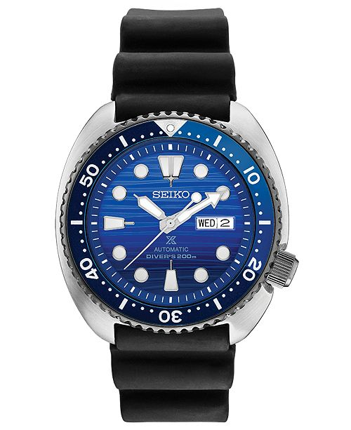 LIMITED EDITION Men's Automatic Prospex Special Edition Diver Black Silicone Strap Watch 45mm
