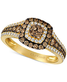 Le Vian Chocolatier® Diamond Halo Cluster Ring (9/10 ct. t.w.) in 14k Gold
