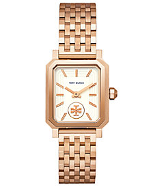 Tory Burch Women's Robinson Rose Gold-Tone Stainless Steel Bracelet Watch 27x29mm
