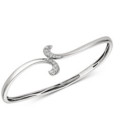Le Vian® Diamond Swirl Bangle Bracelet (1/5 ct. t.w.) in 14k White Gold