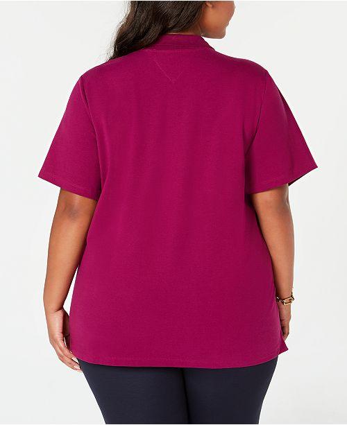 52e7aae817936 Tommy Hilfiger Plus Size Short-Sleeve Polo Shirt