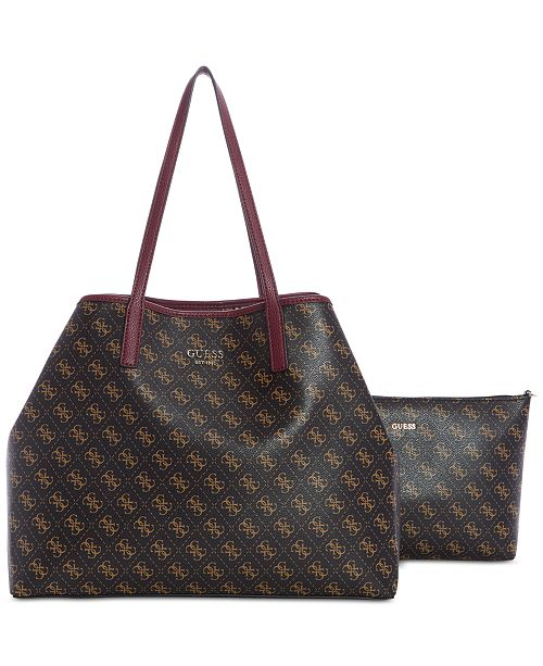 11f0ff4fcf GUESS Vikky Signature 2-in-1 Tote   Reviews - Handbags   Accessories ...
