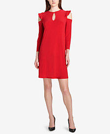 Tommy Hilfiger Cold-Shoulder A-Line Dress