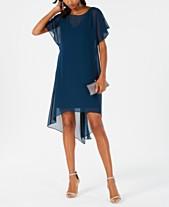 08d117061d Adrianna Papell Chiffon-Overlay A-Line Dress