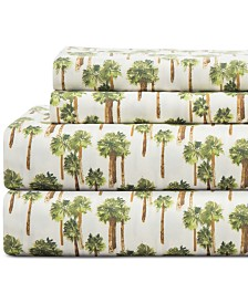 Coastal Print 4-Pc. California King Sheet Set