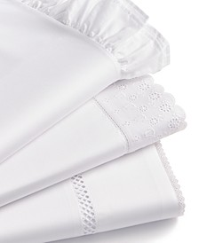 CLOSEOUT! Signature 4-Pc. White Sheet Sets, 400 Thread Count Cotton Sateen, Created for Macy's