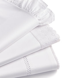 Martha Stewart Collection Signature 4-Pc. White Sheet Sets, 400 Thread Count Cotton Sateen, Created for Macy's