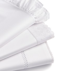 CLOSEOUT! Martha Stewart Collection Signature 4-Pc. White Sheet Sets, 400 Thread Count Cotton Sateen, Created for Macy's
