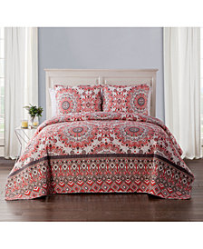 VCNY Home Phoebe 3-Pc. King Medallion Quilt Set
